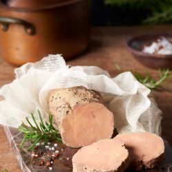 Bistro recipe whole foie gras confit with rosemary
